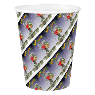 merry xmas football fans paper cup