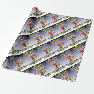 merry xmas football fans wrapping paper