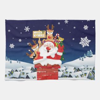 Merry Xmas From Santa's Crew Kitchen Towel