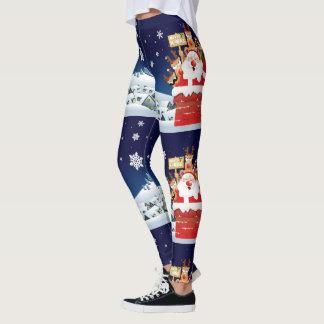 Merry Xmas From Santa's Crew Leggings