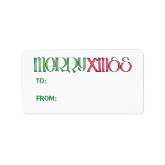 Merry X'mas green Gift Tag