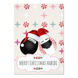 Merry Xmas HABIBI Mr. Mrs. Egg Card
