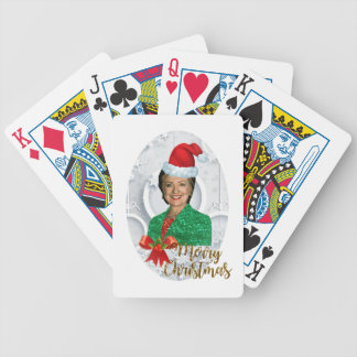 merry xmas Hillary clinton Bicycle Playing Cards