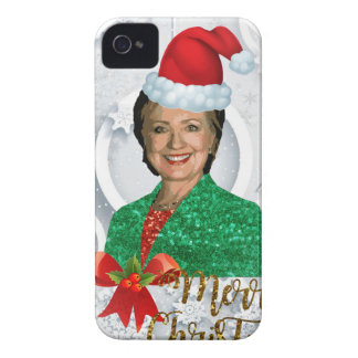 merry xmas Hillary clinton iPhone 4 Case-Mate Cases