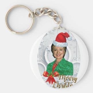 merry xmas Hillary clinton Keychain