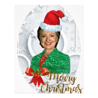 merry xmas Hillary clinton Letterhead