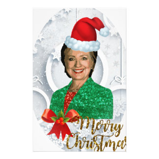 merry xmas Hillary clinton Stationery