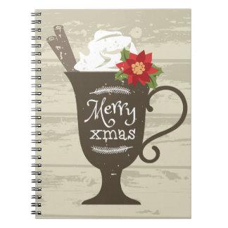 Merry Xmas Holiday Ice Cream Notebooks