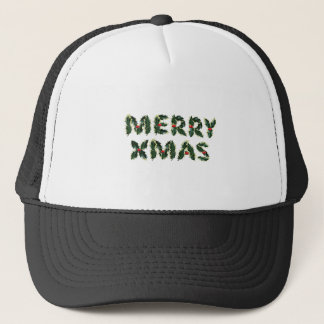 Merry Xmas Holly Trucker Hat