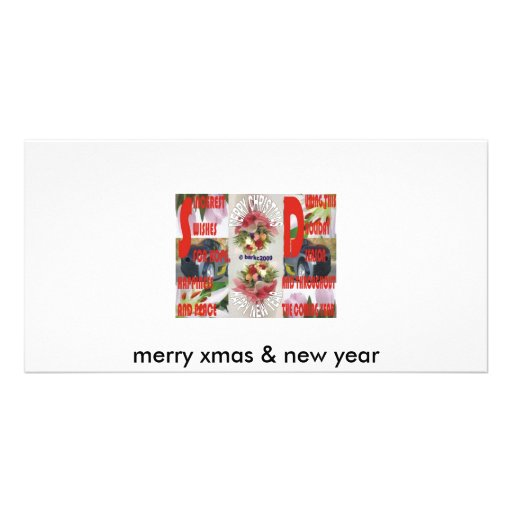 merry xmas & new year picture card