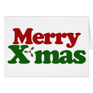 Merry Xmas Note Card