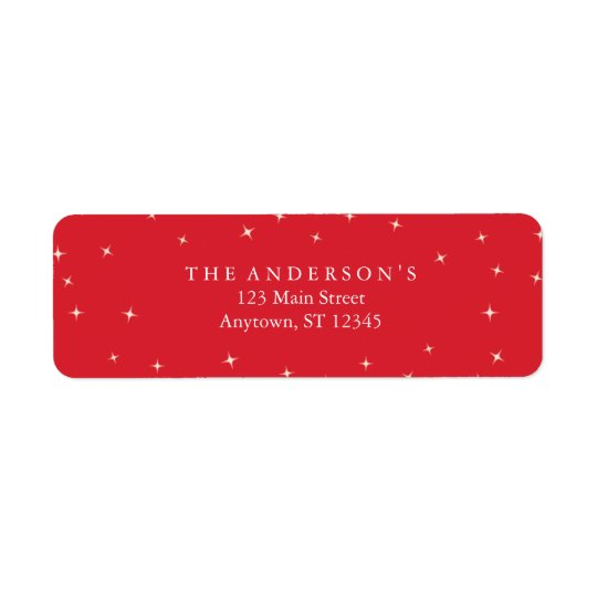 Merry Xmas Red Address Labels