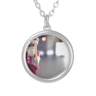 merry-xmas silver plated necklace