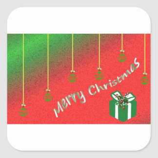 Merry Xmas Square Sticker