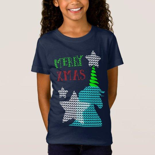 Merry Xmas Ugly Sweater Unicorn Pattern Christmas