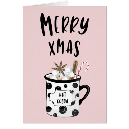 Merry Xmas with hot cocoa Card