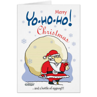 Merry Yo-ho-ho Christmas...and a bottle of eggnog! Card
