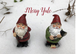 Merry Yule Holiday Card