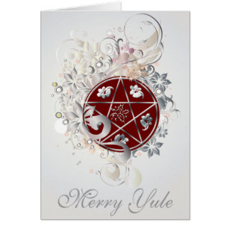 Merry Yule Pentagram Cameo Card - 3B