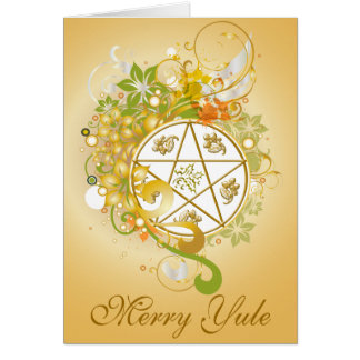 Merry Yule Pentagram Cameo Card - 5