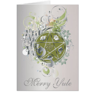 Merry Yule Pentagram Cameo Card - 7B