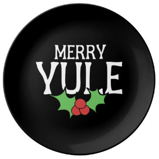 Merry Yule Porcelain Plate