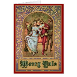 Merry Yule - Vintage Medieval Card