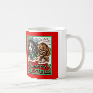 MerryChrsmsPuppies-ClassicWhiteMug 11oz Coffee Mug
