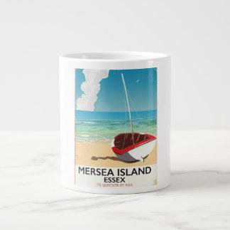 Mersea Island Essex Vintage poster Large Coffee Mug