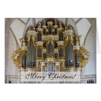 Merseburg Cathedral organ Christmas card