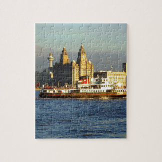 Mersey Ferry & Liverpool Waterfront Jigsaw Puzzle