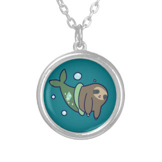 MerSloth Silver Plated Necklace