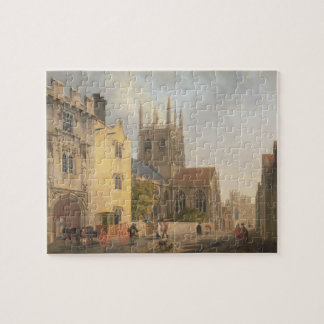 Merton College, Oxford, 1771 (oil on canvas) Jigsaw Puzzle