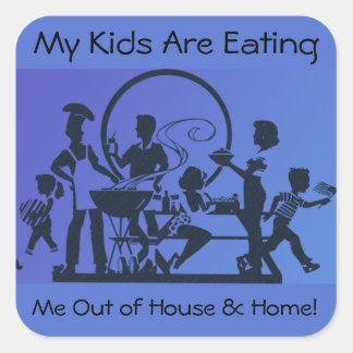 Mes enfants me mangent hors de la Chambre et de la Sticker Carré