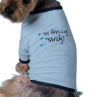mes garçons peuvent nager tee-shirts pour animaux domestiques