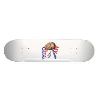 mes mamans votées pour obama skateboard 19,7 cm