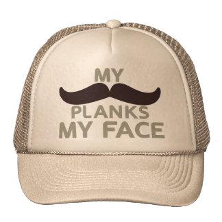 Mes planches de moustache mon visage casquettes de camionneur