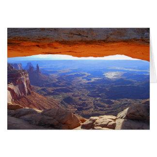 Mesa Arch Utah Card