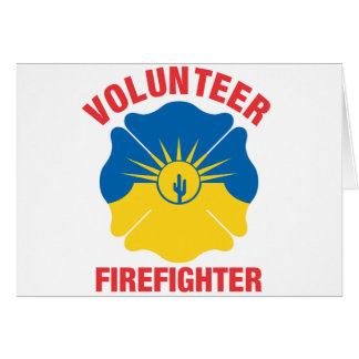 Mesa, AZ Flag Volunteer Firefighter Cross Card