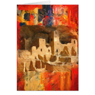 Mesa Verde Adobe Cliffs Southwestern Card