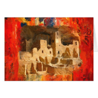 Mesa Verde Adobe Cliffs Southwestern Greeting Card