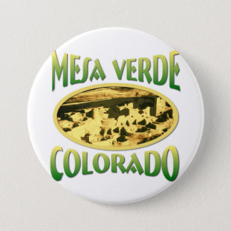 Mesa Verde Colorado 3 Inch Round Button