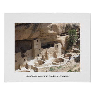 Mesa Verde Indian Cliff Dwellings Poster
