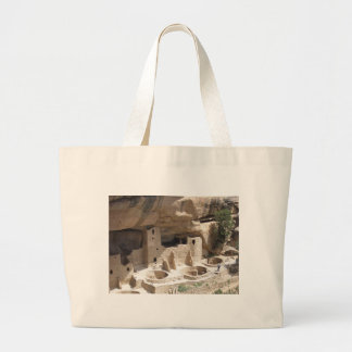 Mesa Verde Indian Dwellings Large Tote Bag