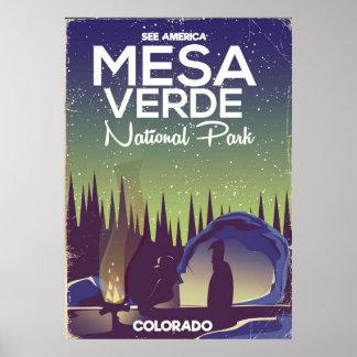 Mesa Verde National Park Camping travel poster
