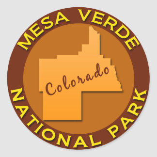 Mesa Verde National Park, Colorado Classic Round Sticker