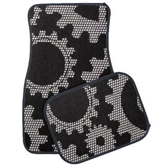mesh gears car mat set