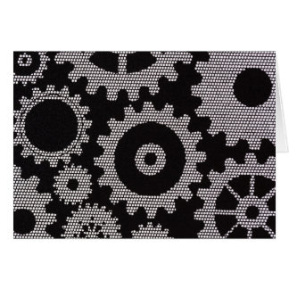 mesh gears greeting card