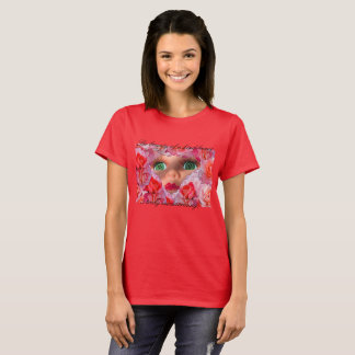 Mesmerized Eyes Red T-Shirt