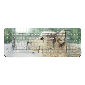 Mesmerized Wolf Keyboard